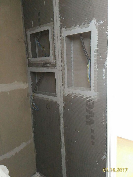 Nicchie SANWELL Piatto doccia Wedi FUNDO RIOLITO NEO 120 CM X 90 CM