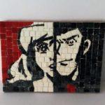 Quadro pop art Lupin e Fujico