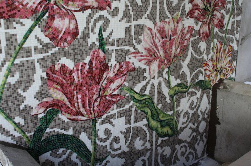 Bisazza mosaico tecnica nartistica Tulips designer MARCEL WANDERS