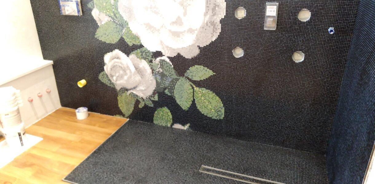 Bisazza mosaico Springrose grigio