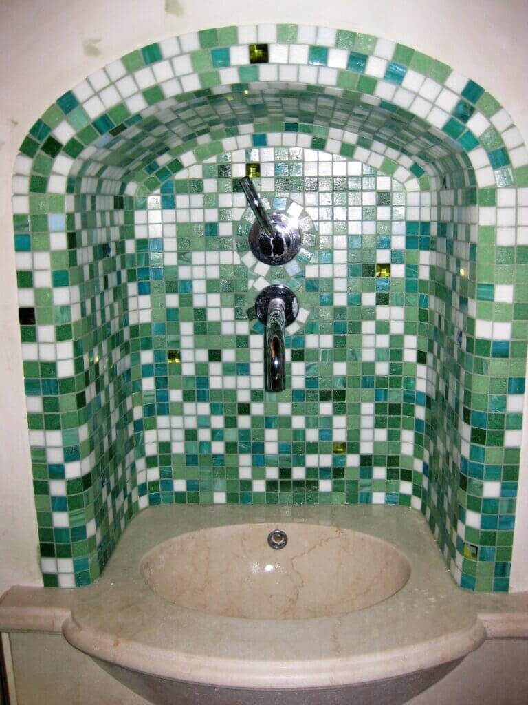 Bagno turco in mosaico
