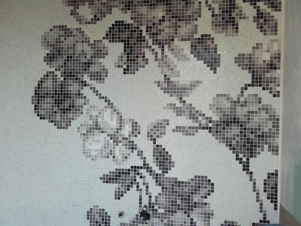Mosaico Bisazza nei bagni a Milano