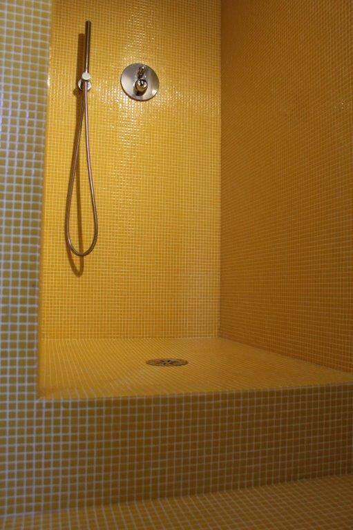 Mosaico giallo Bisazza tessere 12x12 mm