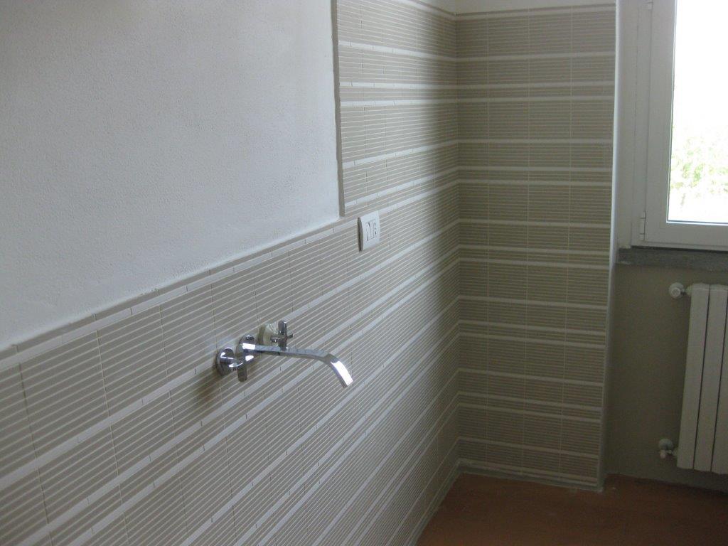 Mattonelle mosaico di gres nel bagno