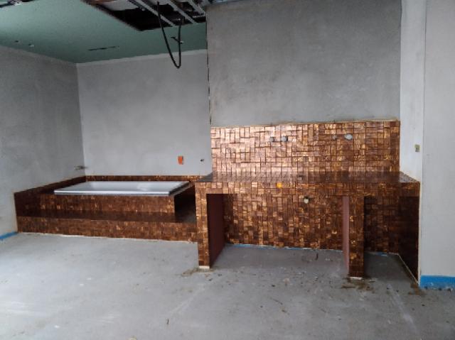 Piano appoggio lavabo in mosaico Bisazza 50x50 mm
