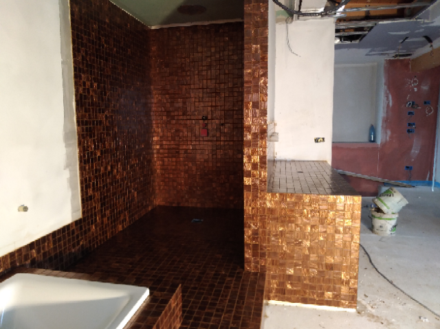 Doccia in mosaico Bisazza 50x50 mm